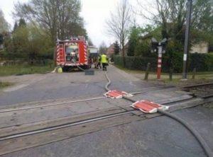 brandslang, trein